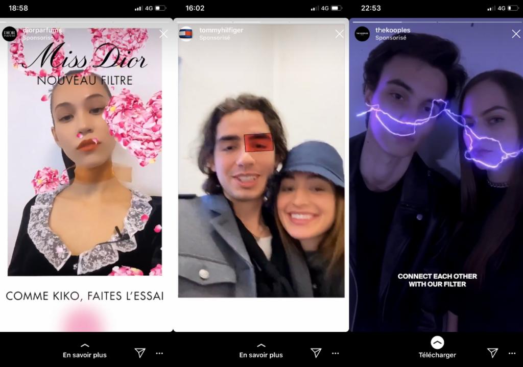 Filtre Instagram pour les marques